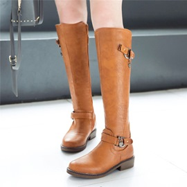 Ericdress Block Heel Round Toe Women's Knee High Boots
