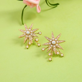 Ericdress Pearl Star Earrings