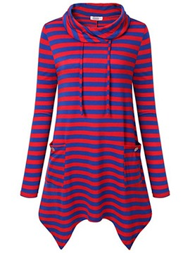 Ericdress Stripe Regular Mid-Length Spring Hoodie