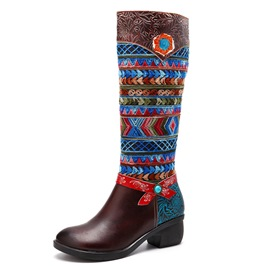 ericdress bottes de style national bout rond femmes
