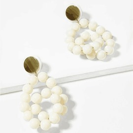 Ericdress White Beads Earrings