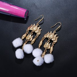 Ericdress Golden Plush Fashion Earrings