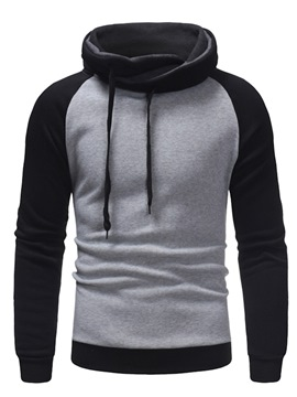 Ericdress Fleece Patchwork Slim Men's Casual Hoodies