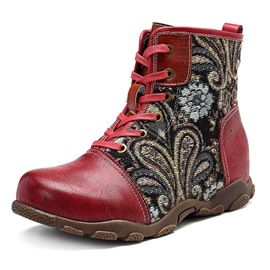 Ericdress Lace-Up Front National Style Women's Boots