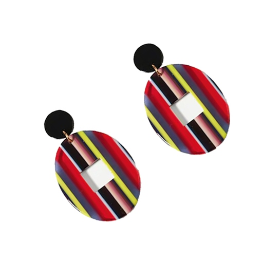 Ericdress Stripe Round Fashion Earrings