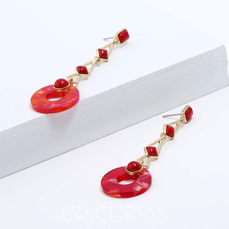 Ericdress Red Round Pendant Necklace