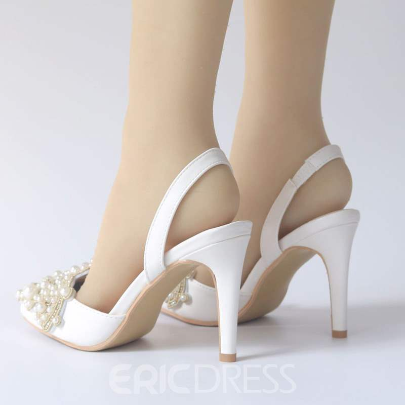 Ericdress Stiletto Heel Slingback Strap Slip-On Wedding Sandals