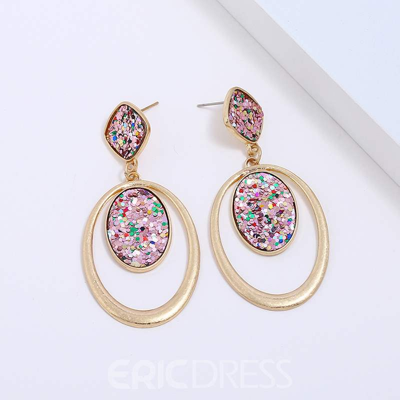 Ericdress Rhombus Loops Earrings