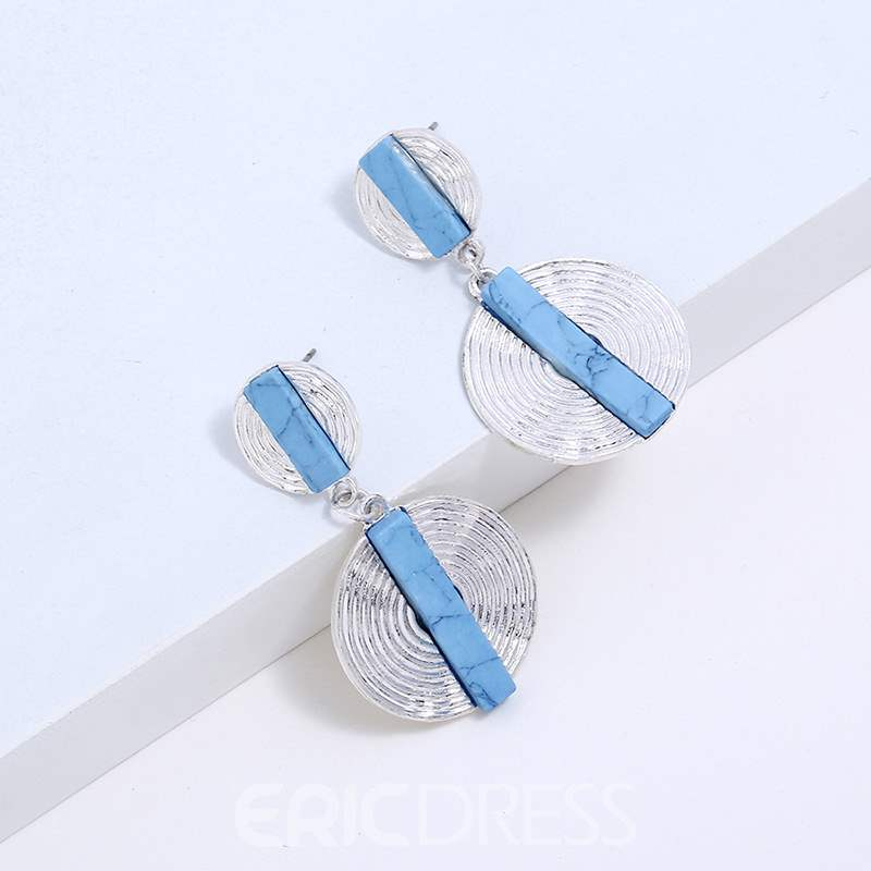 Ericdress Double Round Earrings
