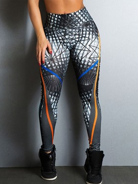 Ericdress Print Digital Anti-Sweat Yoga Leggings