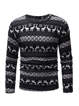 Ericdress Ethinic Print Long Sleeve Men's T-shirt