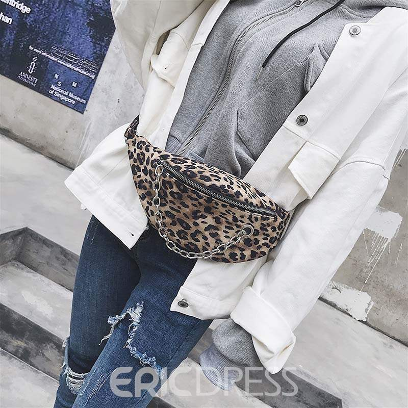 Ericdress Thread Leopard Japanese Rectangle Fanny Pack