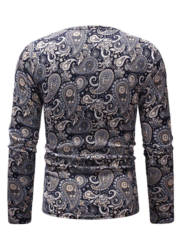 Ericdress Slim Casual Round Neck Mens Long Sleeve T-shirt