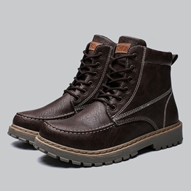 Ericdress PU Lace-Up Front Men's Martin Boots