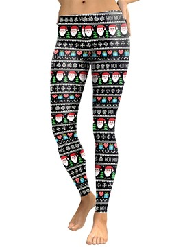Ericdress Christmas Cartoon Print Breathable Women's Pants