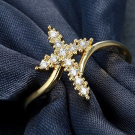 Ericdress Luxury Diamante Ring