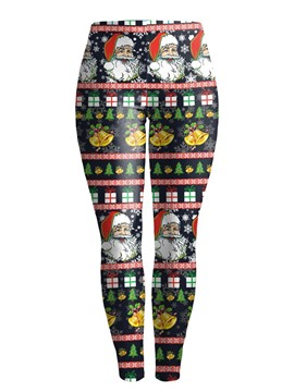Ericdress Christmas Print Breathable Cartoon Women's Pants
