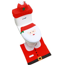 Ericdress Christmas Toilet Cover Set