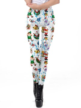 Ericdress Christmas Cartoon Print Women's Pants