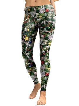 Ericdress Christmas Print Breathable Women's Pants