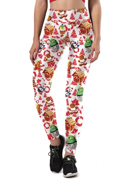 Ericdress Christmas Print Cartoon Anti-Friction Women's Pants