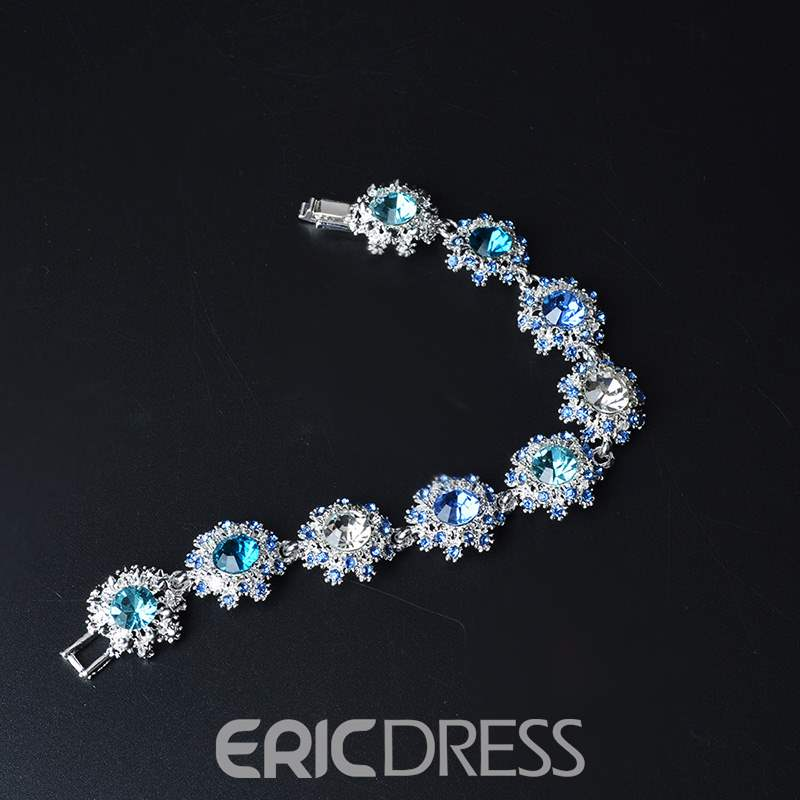 Ericdress Blue Crystal Diamante Fashion Bracelets