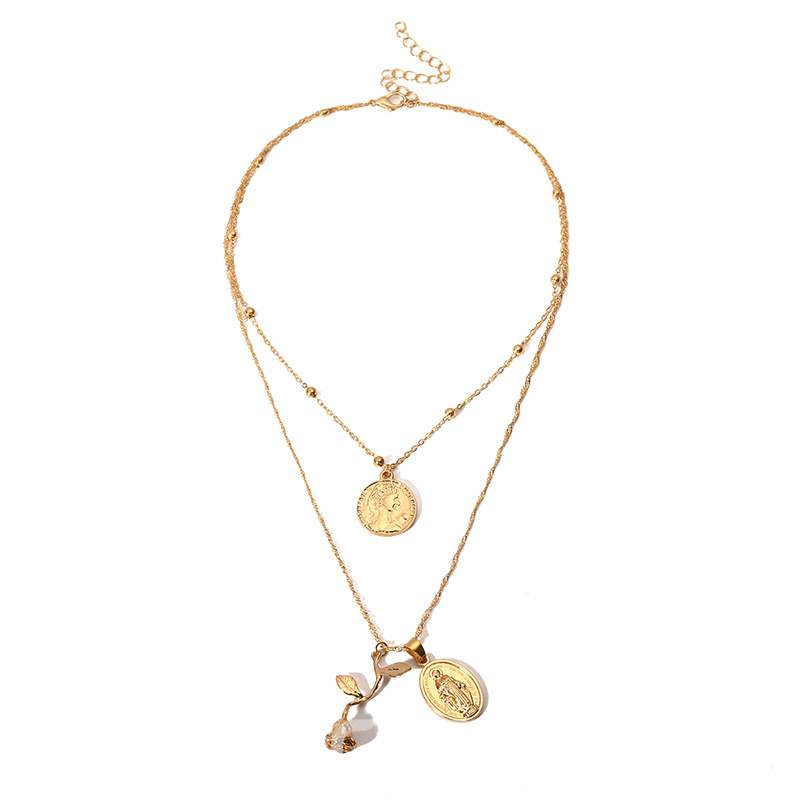 Ericdress Alloy Rose Charm Necklace