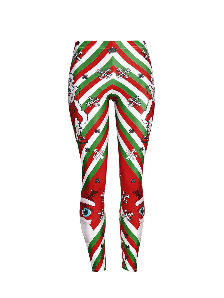 Ericdress Christmas Cartoon Stripe Women's Pants