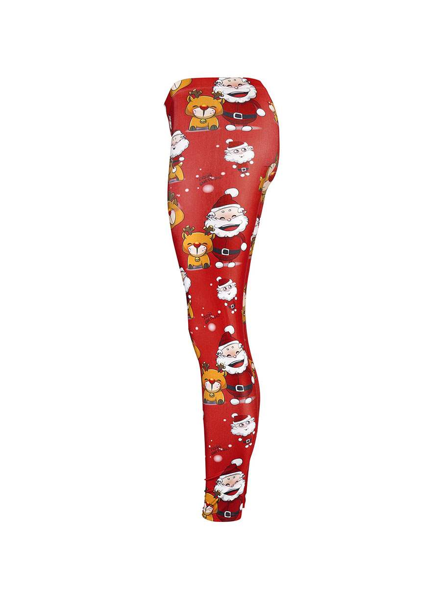 Ericdress Christmas Print Cartoon Women's Pants