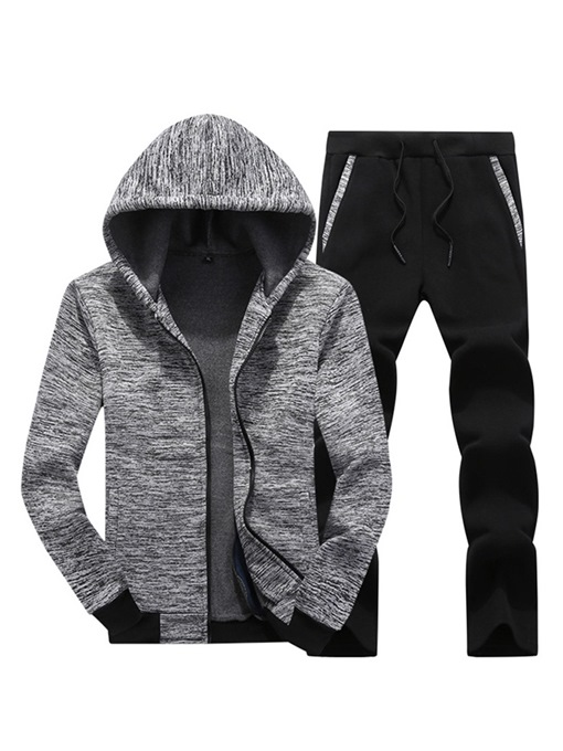 Ericdress Plain Hooded Hoodies & Pants Men's Casual Soprts Outfits