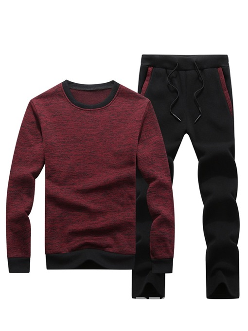 Ericdress Color Block Patchwork Mens Casual Outfit