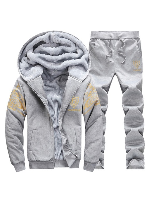 Ericdress Printed Cashmere Lining Mens Casual Sports Outfits