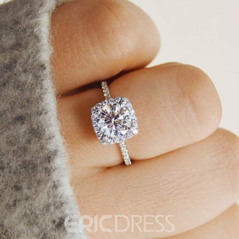 Ericdress Round Rhinestone Diamante Wedding Ring