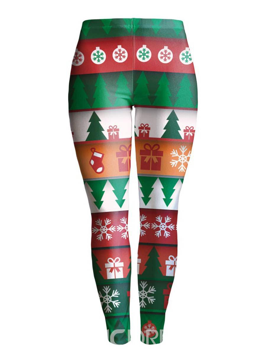 Ericdress Christmas Print Anti-Sweat Women's Pants