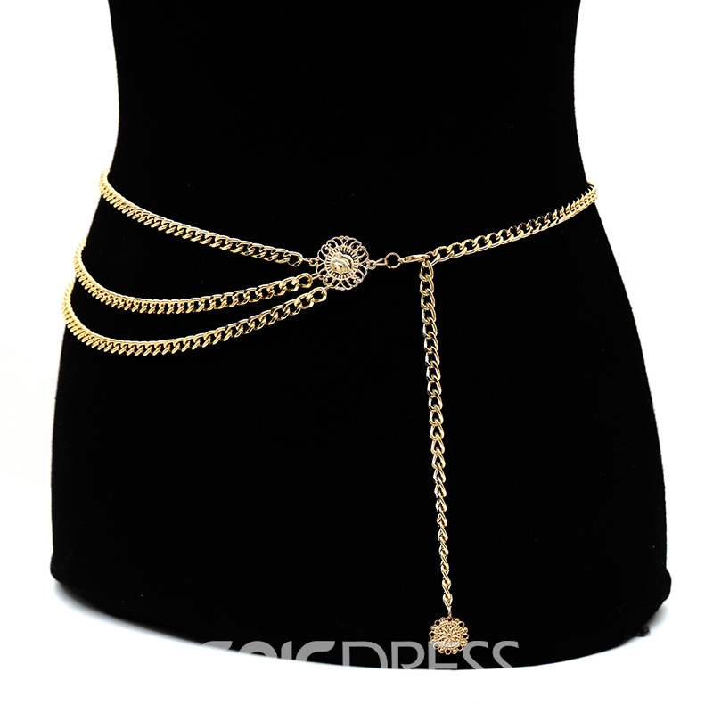Ericdress Multilayer Golden Body Chain Belt