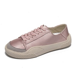 Ericdress Lace-Up Low-Cut Upper Round Toe Women's Flats