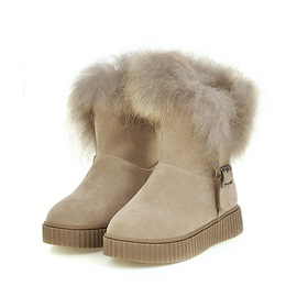 Ericdress Plain Round Toe Faux Fur Women's Snow Boots