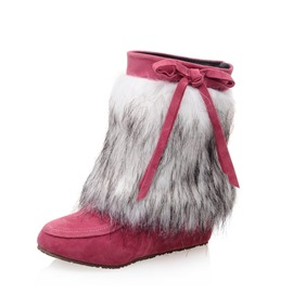 Ericdress Round Toe Faux Fur Hidden Elevator Heel Women's Snow Boots