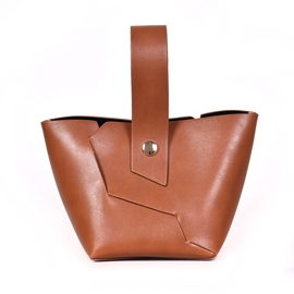 Ericdress Patchwork Plain PU Barrel Shaped Tote Bags