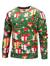 Ericdress Pullover Pullover Print Casual Mens Christmas Hoodies