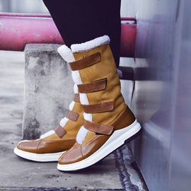 Ericdress Patchwork Round Toe Velcro Women's Snow Boots