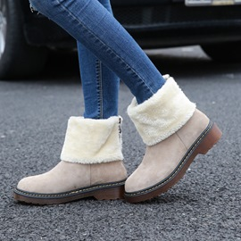Ericdress Block Heel Back Zip Round Toe Women's Snow Boots