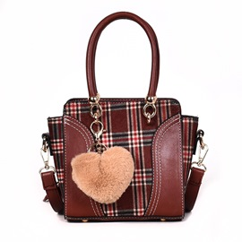 Ericdress Elegance Patchwork Plaid Rectangle Tote Bags