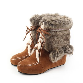 Ericdress Faux Fur Hidden Elevator Heel Women's Snow Boots