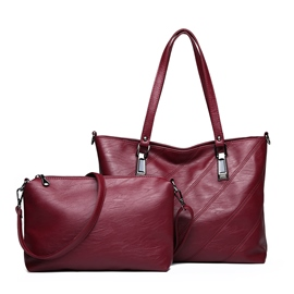 Ericdress PU Thread Plain Barrel-Shaped Tote Bags