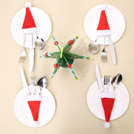 Ericdress Christmas Hat Knife& Fork Sleeve