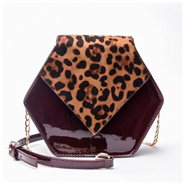 Ericdress Leopard Chain PU Patchwork Crossbody Bags