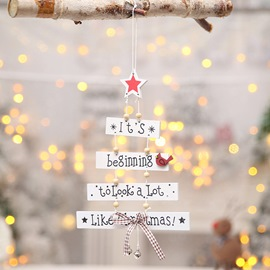Ericdress Christmas Decoration Colorful Letter Creative Tree Pendant