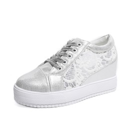 Ericdress Hollow Lace-Up Mid-Cut Upper Women's Sneakers