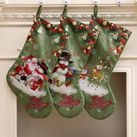 Ericdress Green Christmas DecorationsStocking Gift Bag